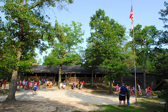 Photo: Main Camp, Lodge and Flagpole area during summer camp.