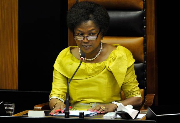 Speaker of the National Assembly Baleke Mbete. File photo.
