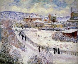 """Photo: Claude Monet, """"Vista di Argenteuil con la neve"""" (1875)"""