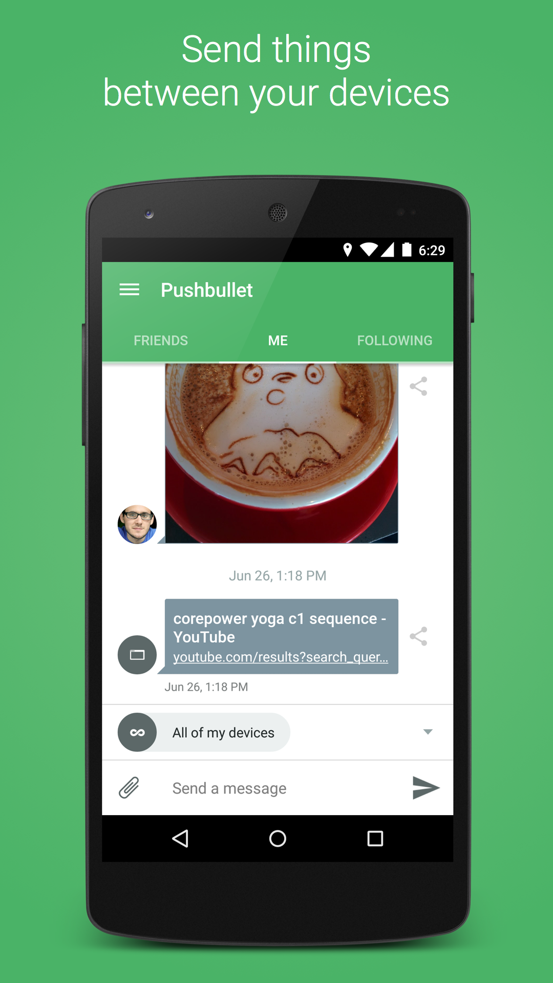 Pushbullet - SMS on PC screenshot #1
