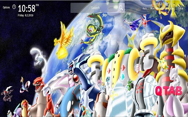 Pokemon Legendary Wallpapers Pokemon New Tab