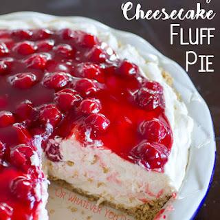 No Bake Cherry Cheesecake Fluff Pie.