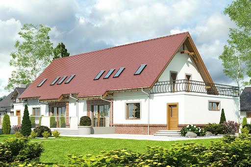 projekt Sosnówka II z garażem 1-st. bliźniak A-BL2