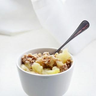 Slow Cooker Apple Pie Oatmeal.