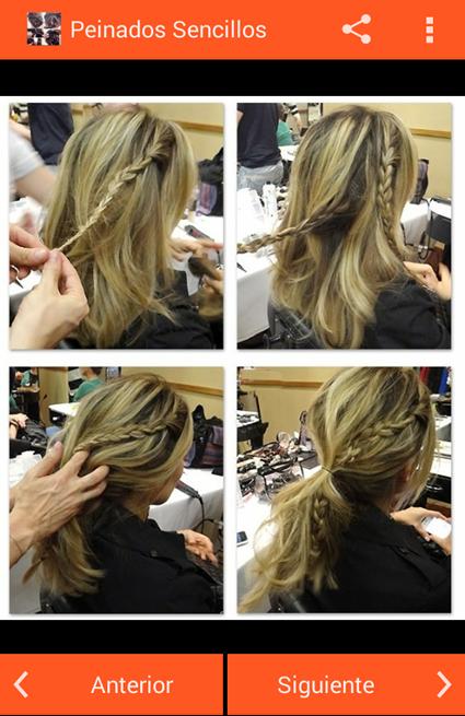 peinados sencillos screenshot - Peinados Sencillos