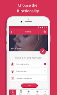 HerCare - A Smart Period & Fertility Tracker - náhled