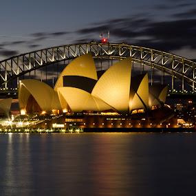 Sydney Opera House and Harbour Bridge by Wah Yuen Lau - Buildings & Architecture Public & Historical ( pwclandmarks, sydney harbour bridge, sydney opera house, bridge, sydney,  )