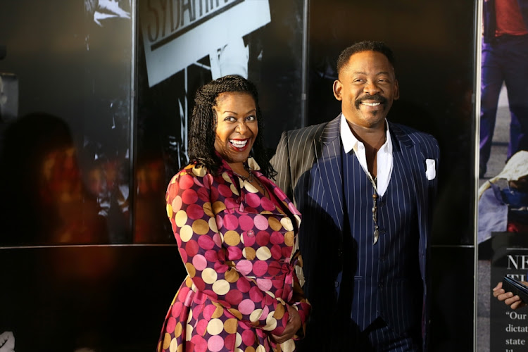 Tselane and Dali Tambo at the opening of the OR Tambo Legacy Project at OR Tambo International Airport on July 23 2013 in Johannesburg.