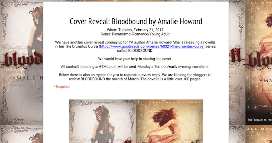 Cover Reveal: Bloodbound by Amalie Howard