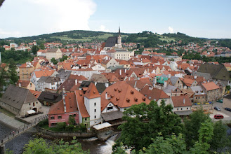 Photo: View of Czesky Kromlov, Czech Rep. from the castle.