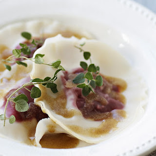Beet Ravioli with Oregano