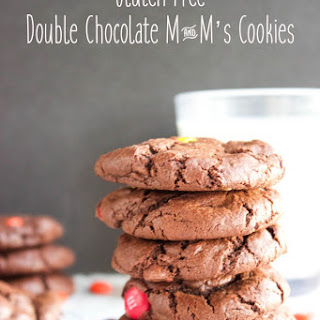 Gluten Free Double Chocolate M&M's Cookies