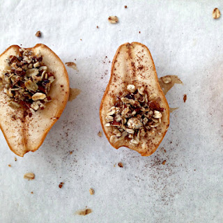 Maple Pecan Baked Pears.