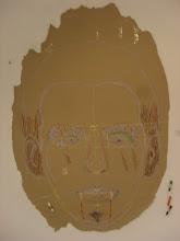 """Photo: Antonio Gallero . """"De Lorca Píntame"""". Técnica secas sobre papel donde el autor invita tanto a los alumnos y alumnas como a cualquier visitante a participar en ella."""