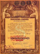 Photo: Actiune emisa de Industria Sarmei - 1945 -  sursa Facebook, Remus Chiorean https://www.facebook.com/photo.php?fbid=1467367020243447&set=a.1461038877542928.1073741826.100009104908756&type=1&theater