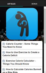 Exercise Calorie Counter screenshot 0