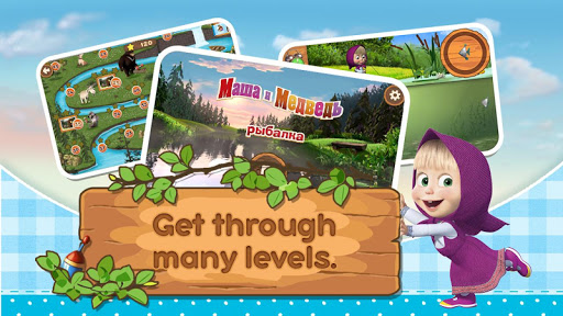 Masha and the Bear: Kids Fishing 1.1.7 3