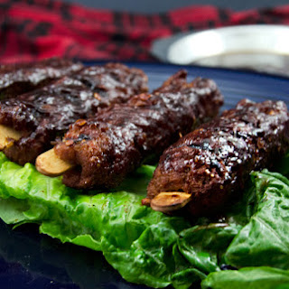 Vegetarian Smoked Seitan BBQ Ribs