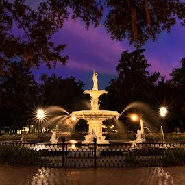 by Norma Brandsberg - City,  Street & Park  Fountains