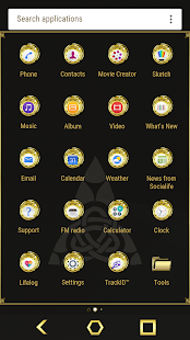 Gold Theme - náhled