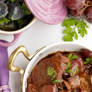 Veal in Barolo and Grapes
