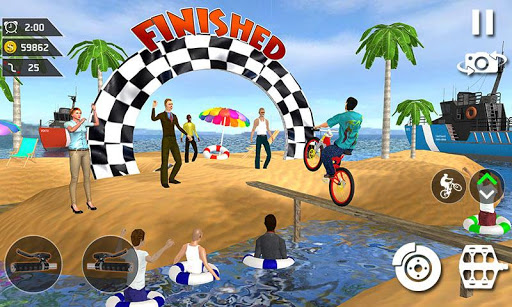 Waterpark Bicycle Surfing - BMX Cycling 2019 download 2