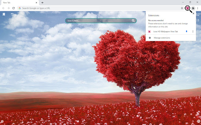 Love HD Wallpapers New Tab