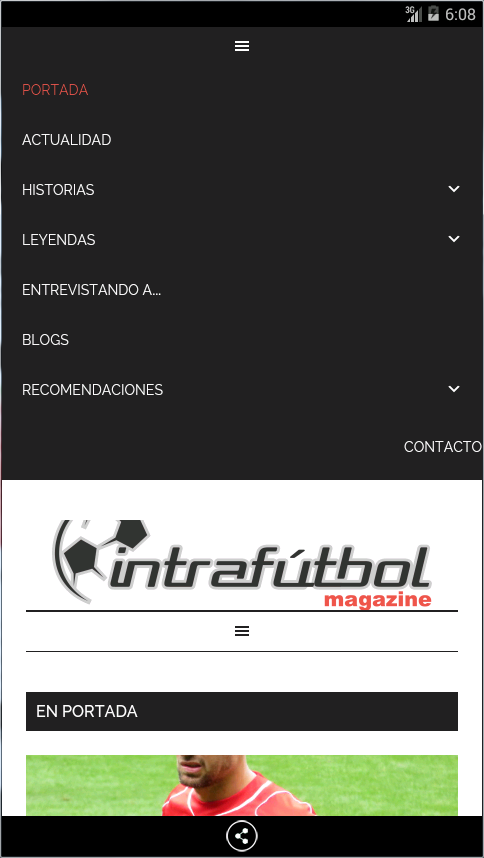 INTRAFUTBOL: captura de pantalla