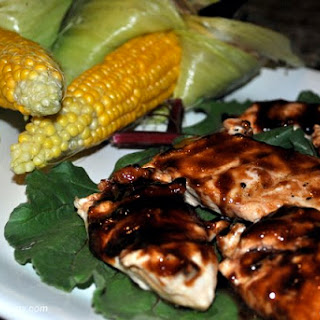 Grilled Chicken with Blackberry Chili-Garlic Sauce