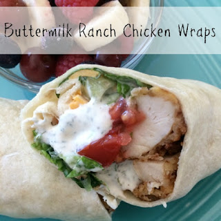 Buttermilk Ranch Chicken Wraps