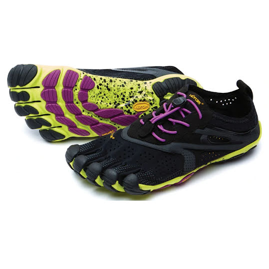 Vibram FiveFingers V-Run Woman Black/Yellow/Purple Stl: 37