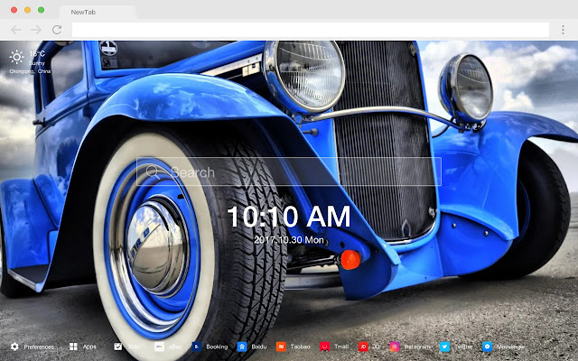 Muscle Car New Tab Page HD Hot Cars Theme