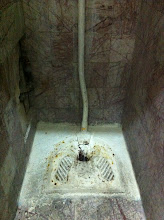 Photo: Welcome to Macedonia.  Squat toilet was quite scary at train station in Skopje where we got off. Yikes.