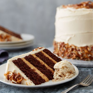 Sky-High Salted Caramel Chocolate Layer Cake Recipe