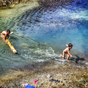 children playing with water by Arubam Meitei - People Street & Candids ( manipur, children, candid, people,  )