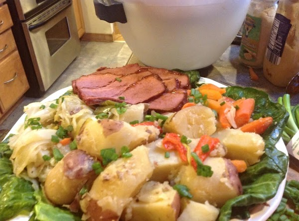 Glazed Corned Beef & Cabbage N Irish Stout Beer