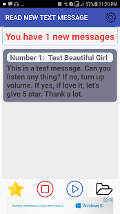 Read new text message - náhled