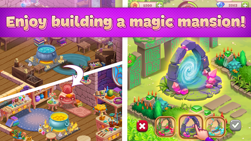 Charms of the Witch: Magic Mystery Match 3 Games screenshots 2