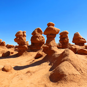 Goblin Valley, Utah by Rita Goebert - Landscapes Deserts ( rock formations; goblin valley state park; utah; sandstone formations; historic rock formations,  )