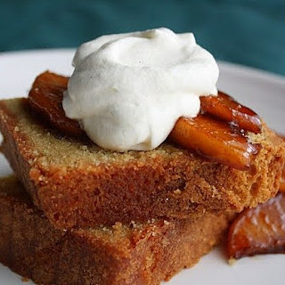 Brown Sugar Pound Cake . . . with Sauteed Apples and Cinnamon Whipped Cream
