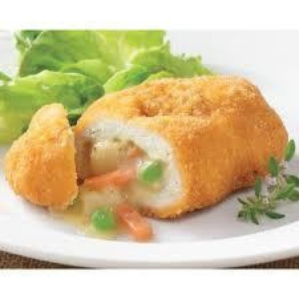 flatten chicken breasts, take onion, frozen vegetables, and can of cream of chicken soup,...