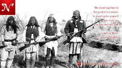 Photo: We stand together for the good of our people. To stand up for yourself, you must use your own two feet. —Laughing Water, Chiricahua Apache