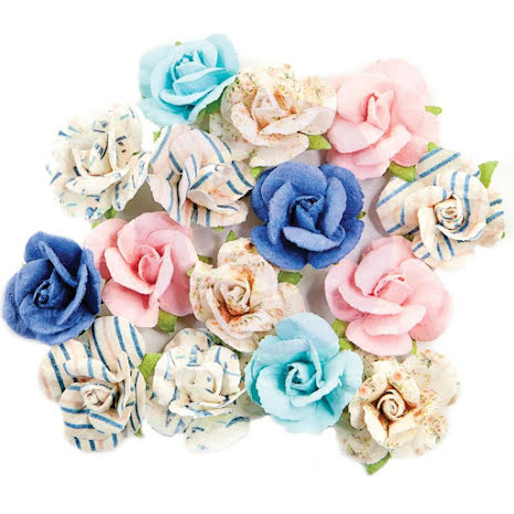 Prima Golden Coast Mulberry Paper Flowers 15/Pkg - Golden Coast UTGÅENDE