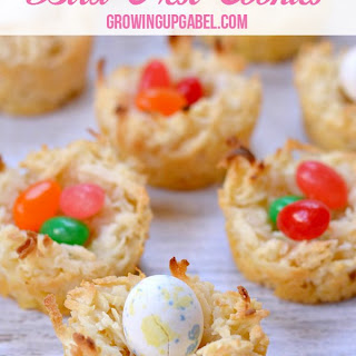 Coconut Bird Nest Cookies
