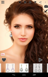 Earring Dressup w Selfie Photo screenshot 2