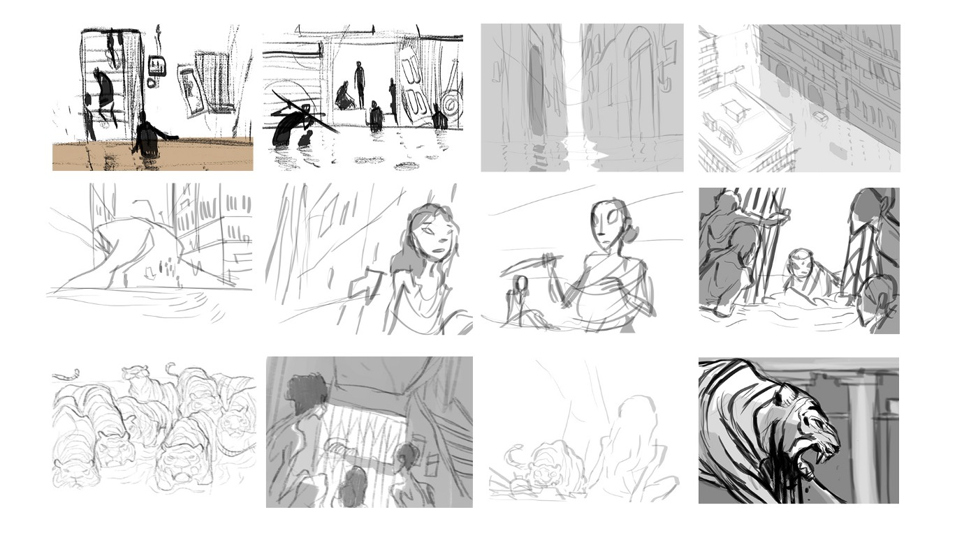 Early storyboards (2016)