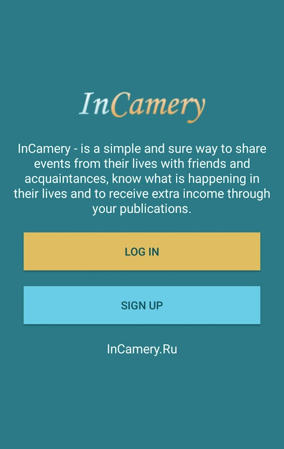InCamery - Income from photos- screenshot