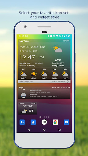 Weather & Clock Widget for Android Ad Free screenshot 2