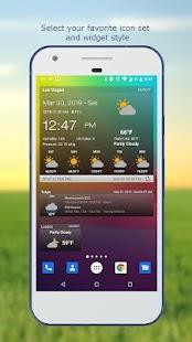 Wetter Uhr-Widget ohne Werbung Screenshot