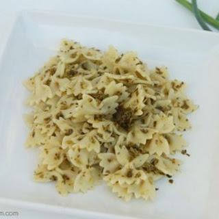 Basil & Garlic Scapes Pesto.